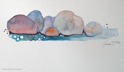 Paint September ~ Day 17 ~ Shoreline