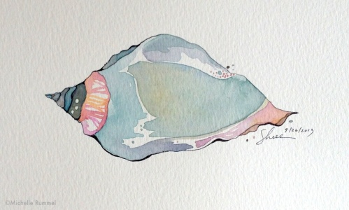 Paint September ~ Day 26 ~ A Quiet Shell